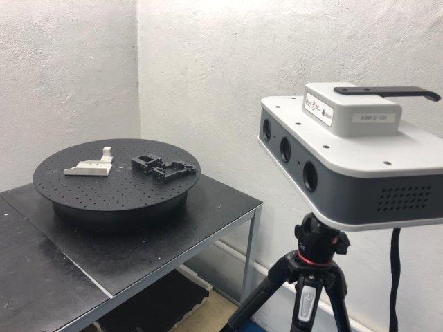 Digitalização 3d peças
