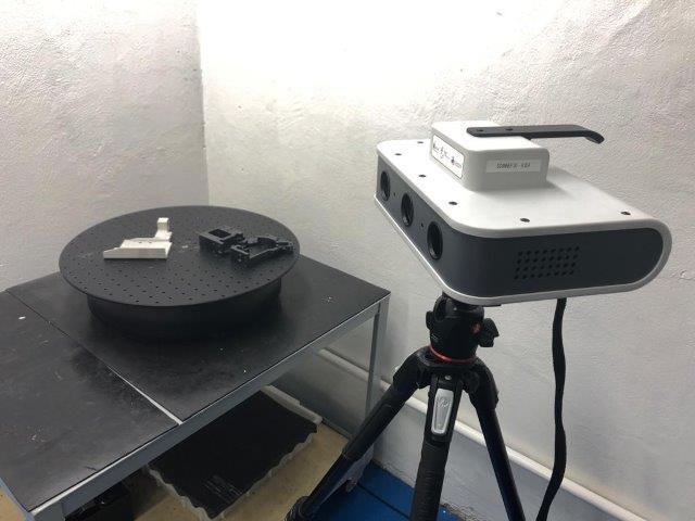 Escaneamento 3d engenharia reversa